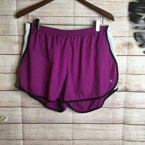 Champion magenta athletic shorts size XL
